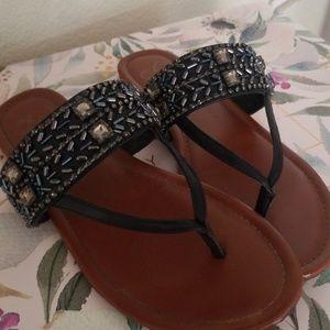 Black jewelled Jessica Simpson sandals